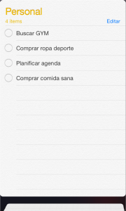 lista personal
