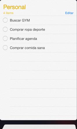 lista personal